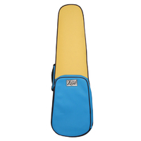 DCM Premium VSYWBL 3/4 Violin Shaped Case  Yellow / Blue