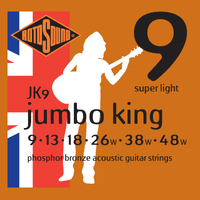 Rotosound JK9 Jumbo King Phosphor Bronze 9-48 String Set